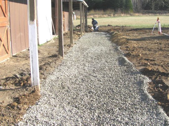 French drain installation 2
