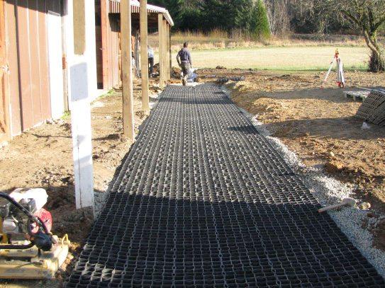 French drain installation 3