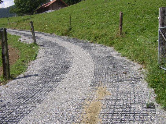 Split driveway for rut control